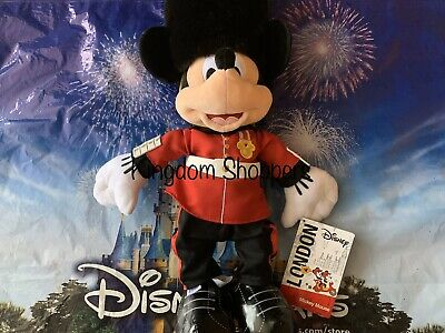Disney Parks Royal Guard Mickey Mouse London UK Epcot World Showcase Plush NWT