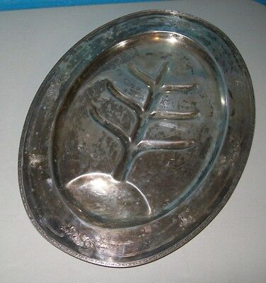 T & T Taber & Tibbits Silver Co. Footed Meat Tray #2616-411 E P N S
