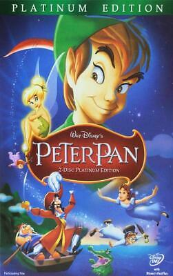 Peter Pan (DVD, 2007, 2-Disc Set, Platinum Edition) New & Sealed Slipcover