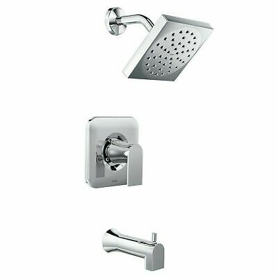 MOEN Genta Single-Handle 1-Spray Tub and Shower Faucet in Chrome-Valve Included