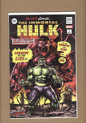 Absolute Carnage Immortal Hulk #1 Nycc 2019 Suayan Variant Nm