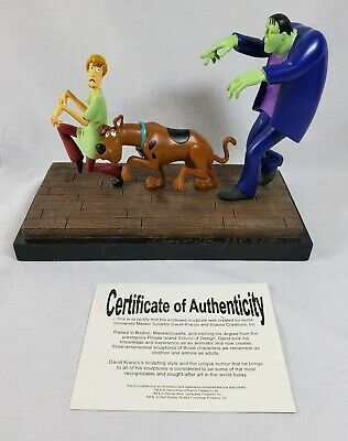 Scooby Doo And Frankenstein's Monster David Kracov Signed Statue 7/50 - AS IS
