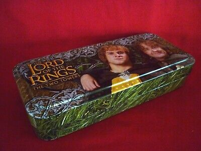 Lord Of The Rings Two Towers Tin Use For Pencil Case Collectible Vgc