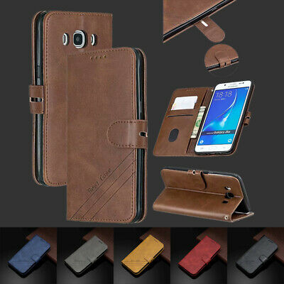 For Samsung J3 J5 J7 2016 J4 J6 J6+ 2018 Magnetic Leather Case Flip Wallet Cover