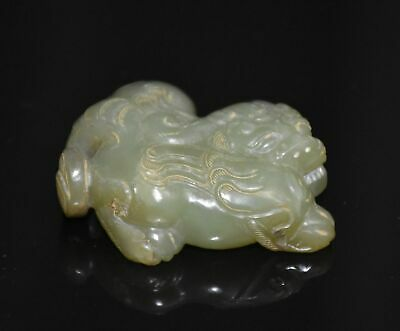 "Good Chinese Han Dy Old Jade Carved Small Strange Animal ""Gua Jian"" L 5.1 CM"