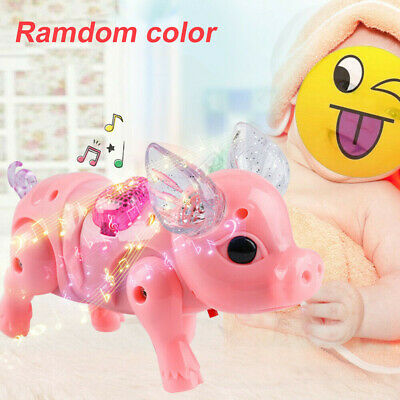 Kids Toy Baby Toy Electric Walking Singing Musical Light Pig Toy with Leash NEW