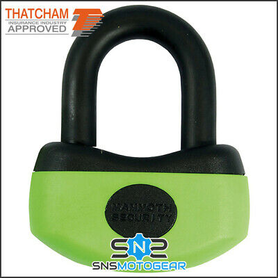 Mammoth Thatcham Approved Mini Motorcycle Motorbike Security U-Disc Lock