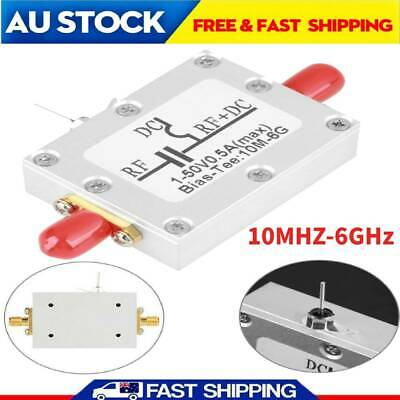 1pc Low Loss Radio Frequency Wideband Amplifier Coaxial Bias Tee 10MHz-6GHz New