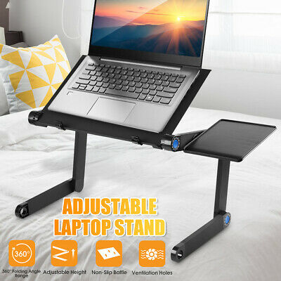 360° Adjustable Folding Laptop Computer Stand Desk Table Tray On Bed 2 Types