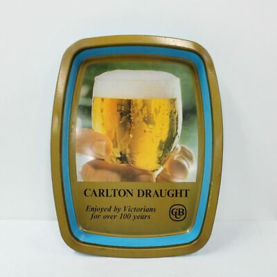 Carlton Draught Vintage 1960s Drink Tray Tin Collectable Breweriana #416