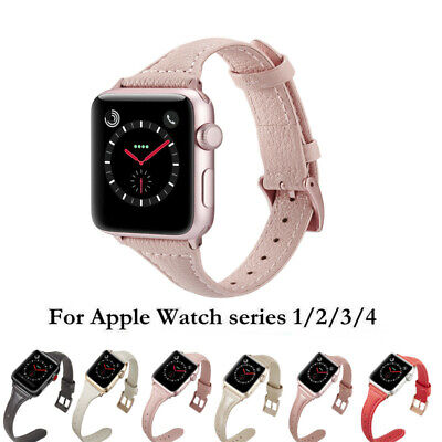 Leather Wrist Strap For Apple Watch Series 4 3 2 1 Band 38/40/42/44mm Bracelet