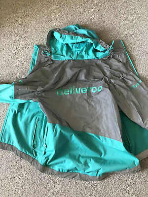 Deliveroo (Food Delivery) Cycling Waterproof Jacket - UK Medium Size - Used