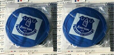 2 x Everton Cup Warmer Coasters - Everton USB Cup Warmers - Christmas Gift