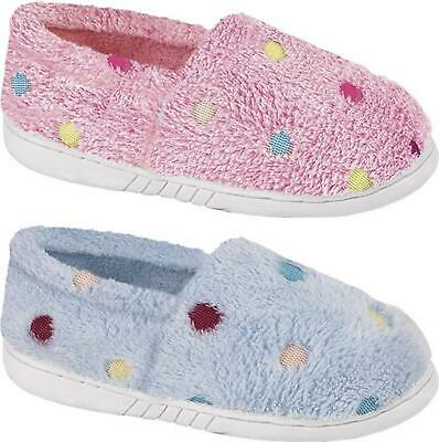 Zedzzz MOLLY Girls Fleece Warm Lined Multi Spot Slip On Full Slippers Loafers