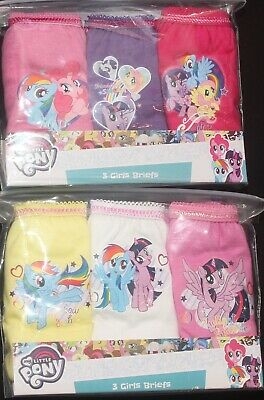 Girls MY LITTLE PONY 100% Cotton Briefs/Knickers x 6 Pairs - 2-6 Years