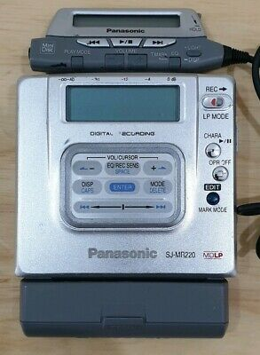 Panasonic SJ-MR220 Personal Minidisc MD Player.