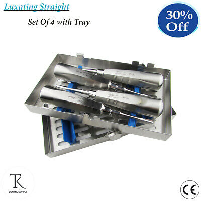 Dental Oral Extract Cassette Of Root Luxating Luxation Elevators Straight 4 PCs