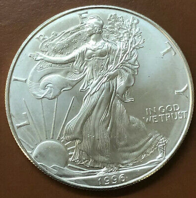 1996 American Silver Eagle BU One 1 Troy Ounce .999 Uncirculated - TCC