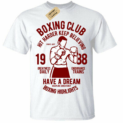 Kids Boys Girls Boxing Club T-Shirt boxers top gym training workout
