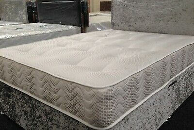 Double 4Ft6 Divan Bed Set With Mattress And Headboard