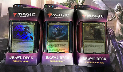 MTG Throne of Eldraine - Brawl Decks - Set of 3 - Brand New - Sealed/Unopened