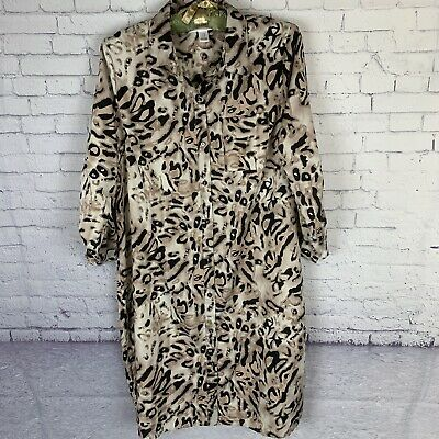 Motherhood Maternity Collar Dress Animal Print Leopard Womens Size Medium