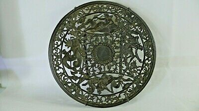 Antique c1880 Coalbrookdale Cast Iron Pierced Casting Plate