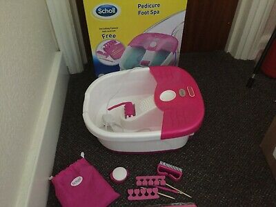 Scholl Pedicure Foot Spa With Accessories  👍