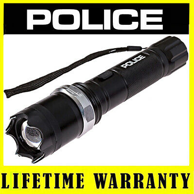 STUN GUN POLICE METAL T10 180 BV Rechargeable LED Flashlight