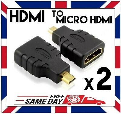 HDMI FEMALE to MICRO HDMI TYPE D MALE ADAPTER CONVERTER Gold Plated for GOPRO et