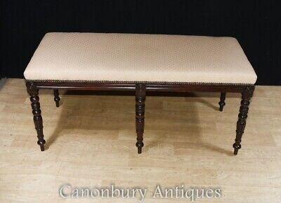 Regency Stool - Double Piano Seat Mahogany