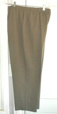 Nwot Alfred Dunner Size 18 Beige With Blue & Brown Pinstripe Pants  #506