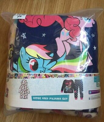 Girls My Little Pony Pyjamas And Robe Set By Hasbro Age 9-10 Years BNWT