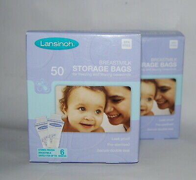 Lansinoh, Breast milk Storage bags, pack of 50, x2