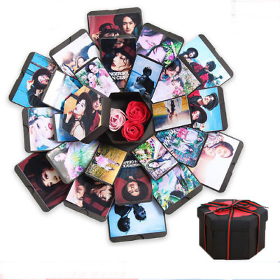 Hexagon 5-layer 6-sided Explosion Gift Box Innovative DIY Love Photo Album Refil