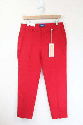 Old Navy Harper Pants sz 4 New Crop Ankle womens red Stretch Office Wear Work