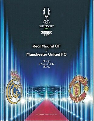 Mint programme UEFA Super Cup 2017 Real Madrid vs. Manchester United.