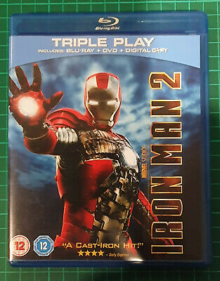 Iron Man 2 (Blu-ray and DVD Combo, 2010, 3-Disc Set)