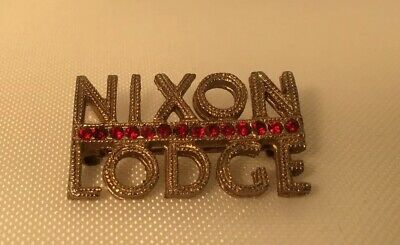 Nixon Lodge 1960'S Vintage Political Presidential Campaign Pin      T*
