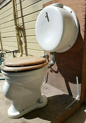 antique toilet Pill tank complete toilet