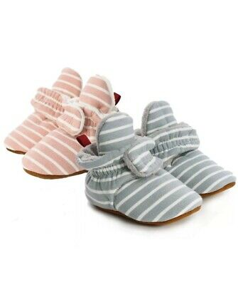 Wholesale Job Lot Baby Slipper/Shoes/Booties (0-6 months, Pink and Blue/Grey)
