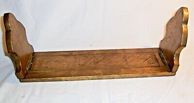 "Victorian sliding (""metamorphic"") gilt book stand. 15 x 4.75 inches"