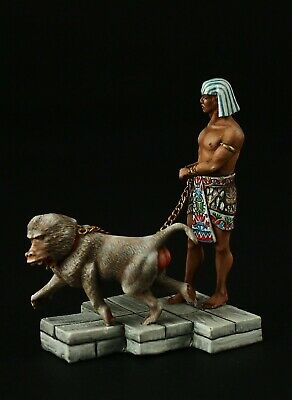 Tin soldier, Museum (TOP), Egyptian Militia with Baboon 54 mm, Ancient Egypt