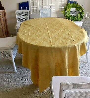 Shabby Chic French Style Gold Damask Tablecloth