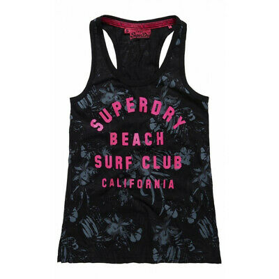 Débardeur Superdry Surf Club Aop Overdyed Vest Blk