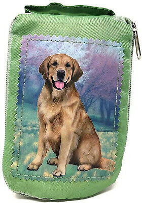 Golden Retriever Sitting Foldable Tote Bag - Waterproof - Zippered Market Tote