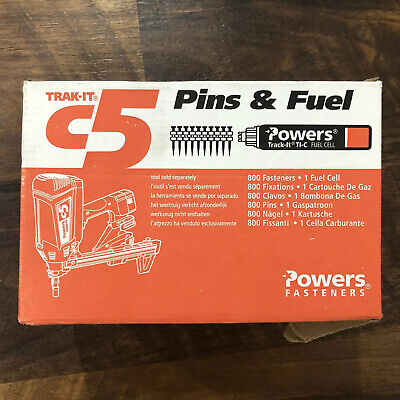 """NEW Powers Trak-It C5 55324 1 1/2"""" Metal Track to Steel Pins Expired Fuel Cell"""