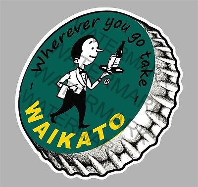 Waikato Beer Willie The Waiter Sticker For Esky Toolbox Fridge Mancave Etc