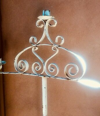 Candle Vintage Candelabra Floor Standing Wrought Iron Heavy Candle Holder