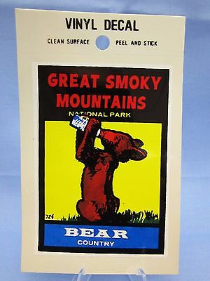 Vintage **Great Smoky Mountains National Park**  Sticker / Decal (New Old Stock)
